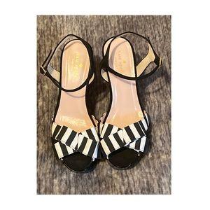 kate spade Annie striped grosgrain platform sandal